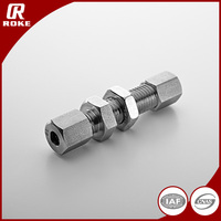 Stainless Steel Union 6L NPT Hydraulic Bulkhead Fitting
