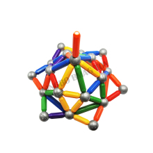 CE certification baby educational magnetic ball rod toys