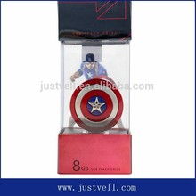New design OTG usb flash drive with metal captain america shield case, usb necklace