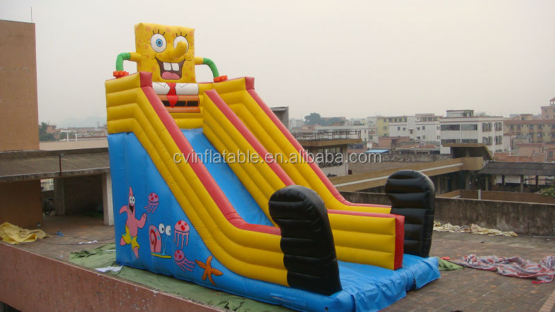 PVC,The best PVC tarpaulin Material and Slide Type octopus pirate Commercial slide Inflatable