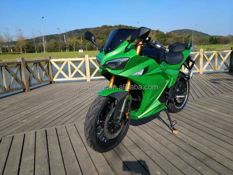 cheap green colour electric motorcycle for adult
