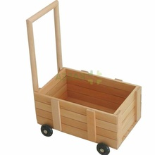 wooden baby walker with wheels storage toys montessori products playschool