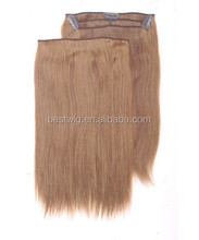 Wholesale best quality remy human hair clip hair extension good smell clear clip hair products