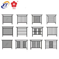 Hot! supply aluminum stairs fence, round tube square tube ornamental supply post and rail aluminum fencing