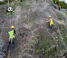 Flexible active slope protection netting for rockfall