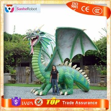 Theme Park Playground Item Western Style Life Size Dragon Statues