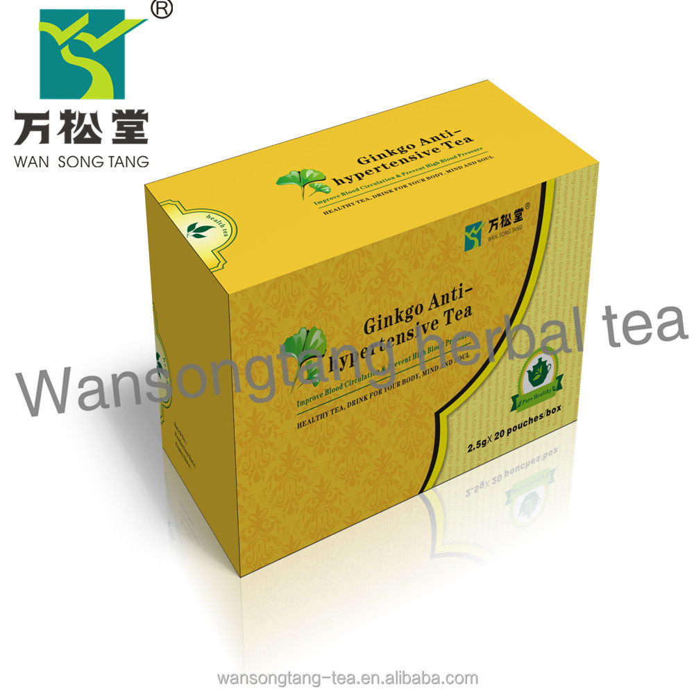 Private lable gingko tea cholesterol reducing blood pressure tea