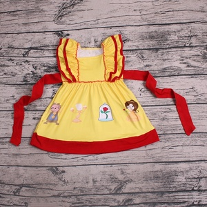 zhihao wholesale boutique kids clothing baby girls cheap dress girls party dresss