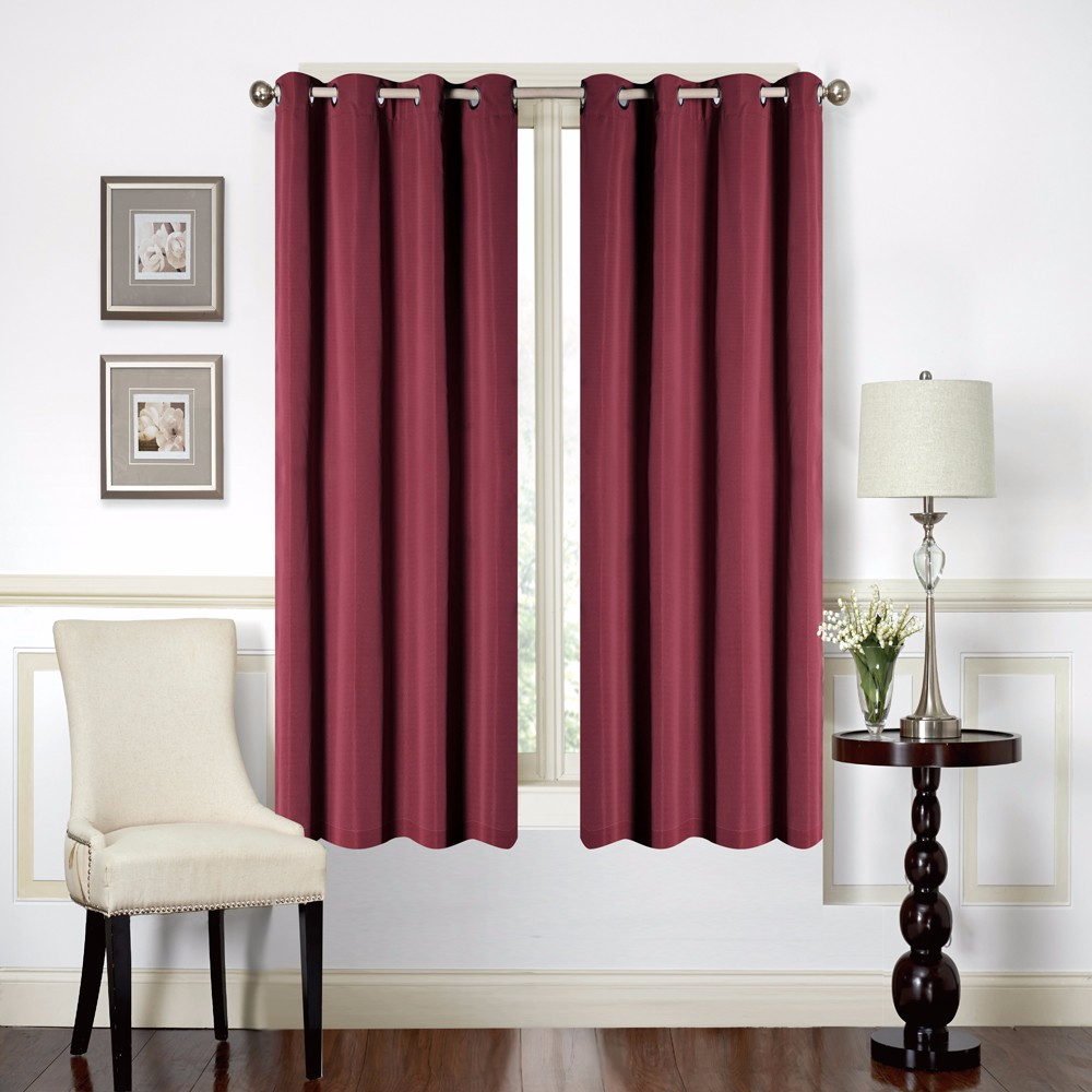 IN STOCK 1 pc Solid Burgundy Thermal Insulated Blackout Window Curtain