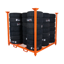 Warehouse Stackable Car Truck Metal Pallet Rack Mobile Tire Rack