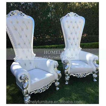 Cheap Luxury wedding event party salon pedicure Restaurant Hotel Living room Leather Solid Wood king throne chair rental HY-K134