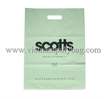 matt printing die cut shopper bag