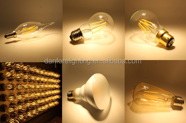 2016 New product 6.5W T26 T8 225mm Tubular Vintage LED Filament bulb