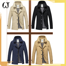 F111#2017 Hot-sale Fashion Long Sleeve Slim Fit Leisure Men Chino windbreaker Coat Wholesale