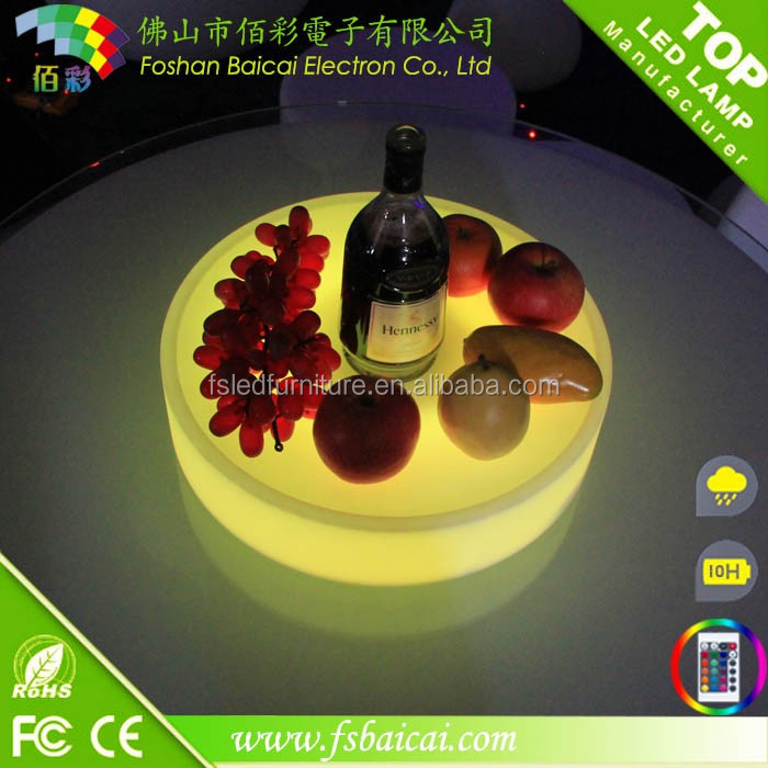LED lighting up wine tray/party plate for party
