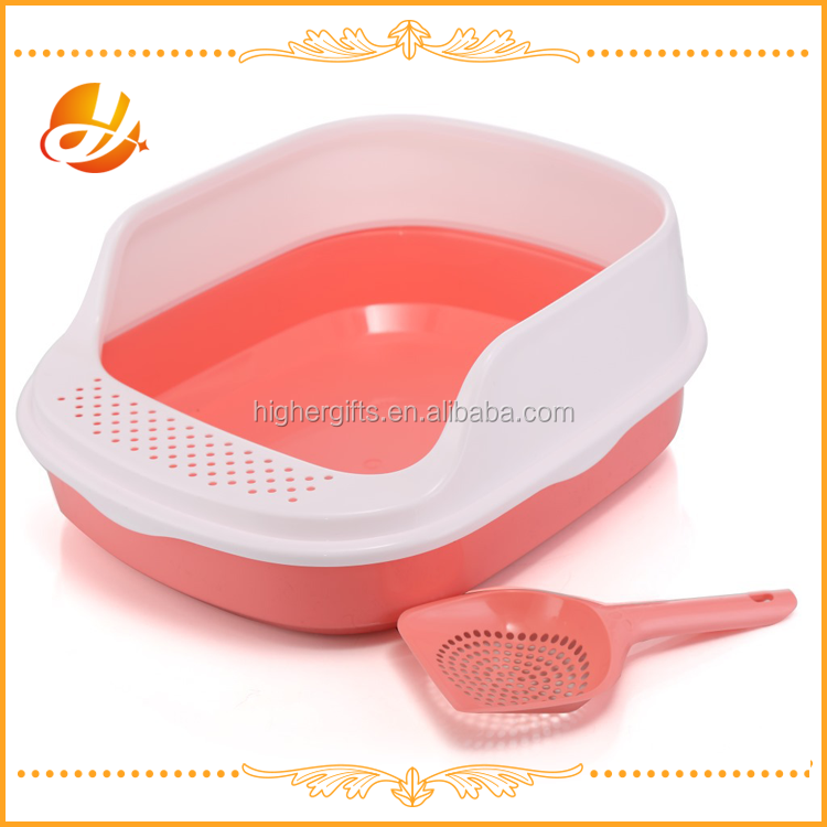 high quality plastic cat litter box as cat and dog pet toilet