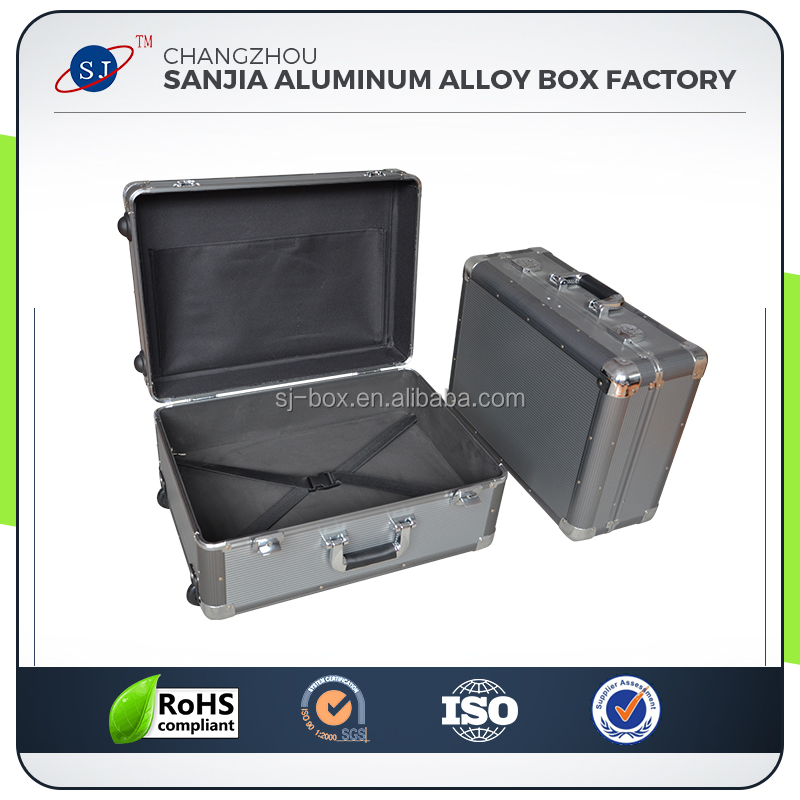 High Grade Aluminum Business Carrying Trolley Luggage Travel Case
