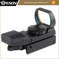 Hunting red&green dot sight with 4 type reticle for optical rifles