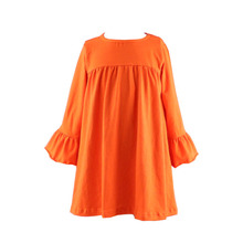 2016 Fashion top design long ruffle sleeve lap dresses china girls photos without dress