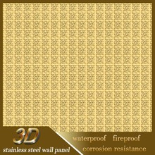 Anti-Corrosion Stainless Steel 201 3D Wall Papers Home Decor