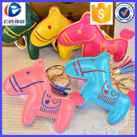 Hot Sale Promotional PU Horse shape leather key ring