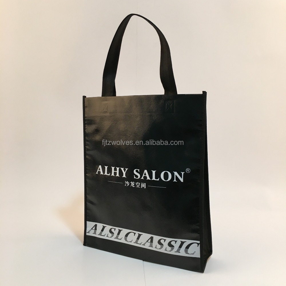 Custom Heat transfer printing non woven tote promotional tote bag