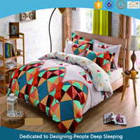 Top Selling Comfortable Stone Washed Cotton Linen Bedding Set Custom Printed Bed Sheet