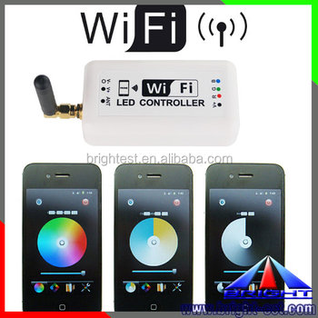 Touch 2.4G Wifi Wireless RF Remote RGB LED strip Light wifi Controller Mi.Light for IOS and android