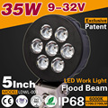 Car accesories manufacture 35W led work light for car auto truck offroad