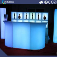 New commercial protable color changing plastic night club led bar counter furniture design