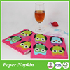 Hot products animal owl tissue paper towel napkin for daily