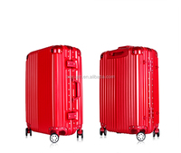 Various colors Aluminium frame luggageTravel bag/PC trolley luggage/ PC luggage case/ Hard suitcase