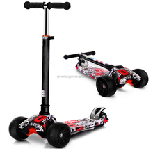 New 4 wheels scooter high quality foldable kids kick scooter frog kick scooter