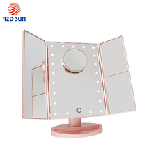 LED Touch Screen Dimming Vanity Illuminated Cosmetic Mirror