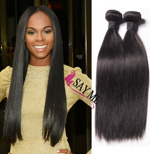 Bangalore Human Hair Extensions , Virgin Malaysian Hair Weave , Natural Color Silky Straight Hair