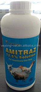 poultry medicine amitraz 12.5% solution for insecticide drug