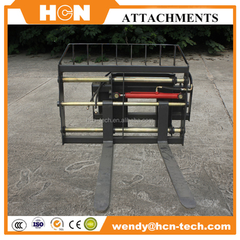 HCN 0407 skidsteer attachments hydraulic pallet fork