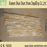 Yellow good quality culture slate for wall cladding