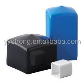 Plastic PVC end cap for square pipe