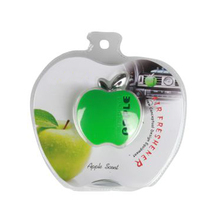 Fashion Design Plastic Green Apple Shape Aromatherapy Car Scent Diffuser Car Air Freshener