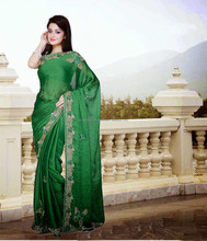 Beautiful designed ladies sarees with net blouse designs R4973
