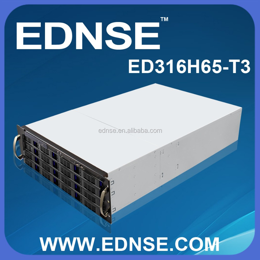 ED316H65-T3-F 3U EATX Rackmount PC Server Case with 16 Bay SATA/SAS Backplane