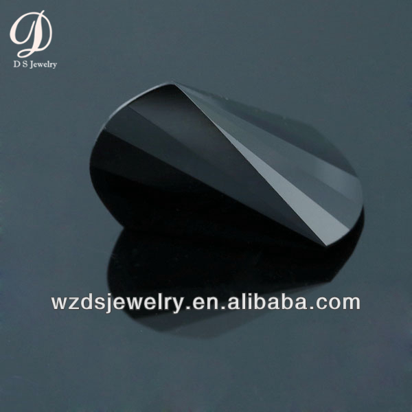 Wholesale AAA Special Axe Shape Black Lab Synthetic Crystal Glass Stone Gems Loose Gemstone Beads Diamond for Jewelry