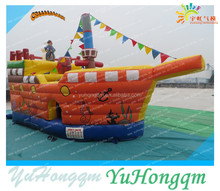 2015 best quality inflatable pirate ship bouncy castle ,beautiful jumping castle inflatable combo slide for sale