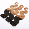 aliexpress wholesale unprocessed virgin remy Peruvian omber hair weft,top quality 7A hair weaving