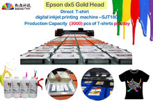 Digital Garment T-shirt Printing Printer 8 Color Golden DX5 Printer Head