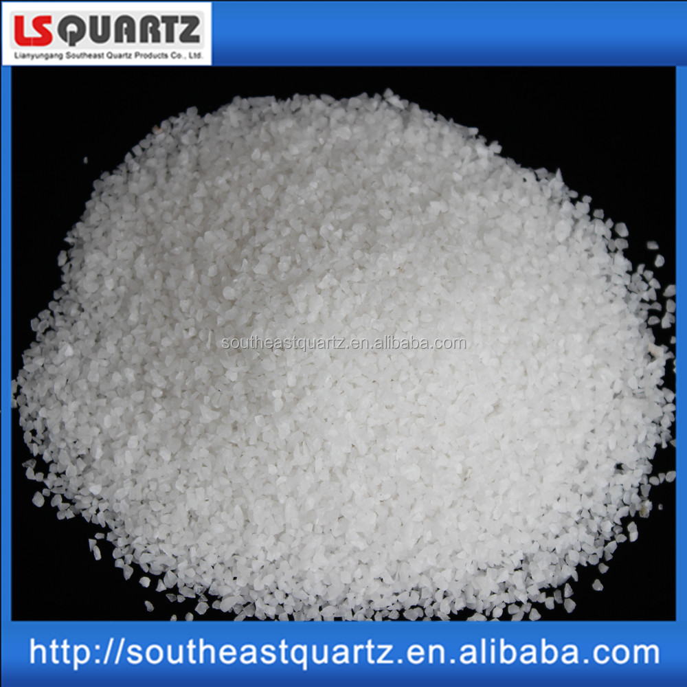 Pure white silica sand for glass production