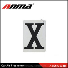 Hot sell and good quality X shape car air freshener