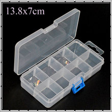 PP Plastic 8 compartments Transparent Adjustable Electronic Components Storage Box Beads Box