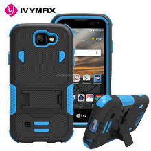 Factory accessories silicone+pc armor bumper case covers for LG k3/ ls450
